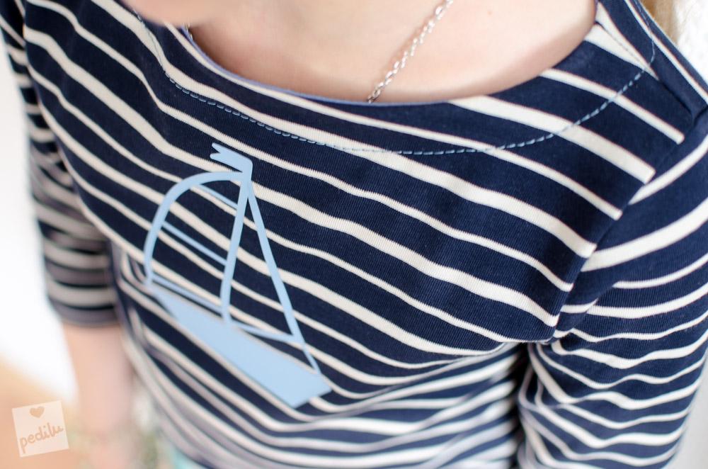 Breton-Shirt mit Beleg: Anleitung