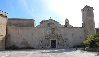 Monasterio de Poblet, fachada de la Iglesia Mayor.