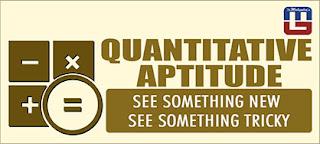 QUANTITATIVE APTITUDE QUESTIONS FOR SBI PO | 21 - MAR - 17