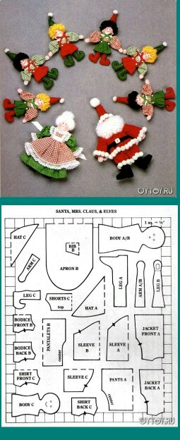 DIY - Decoração de Natal Com Feltro Super Fácil de Fazer Com Moldes 15