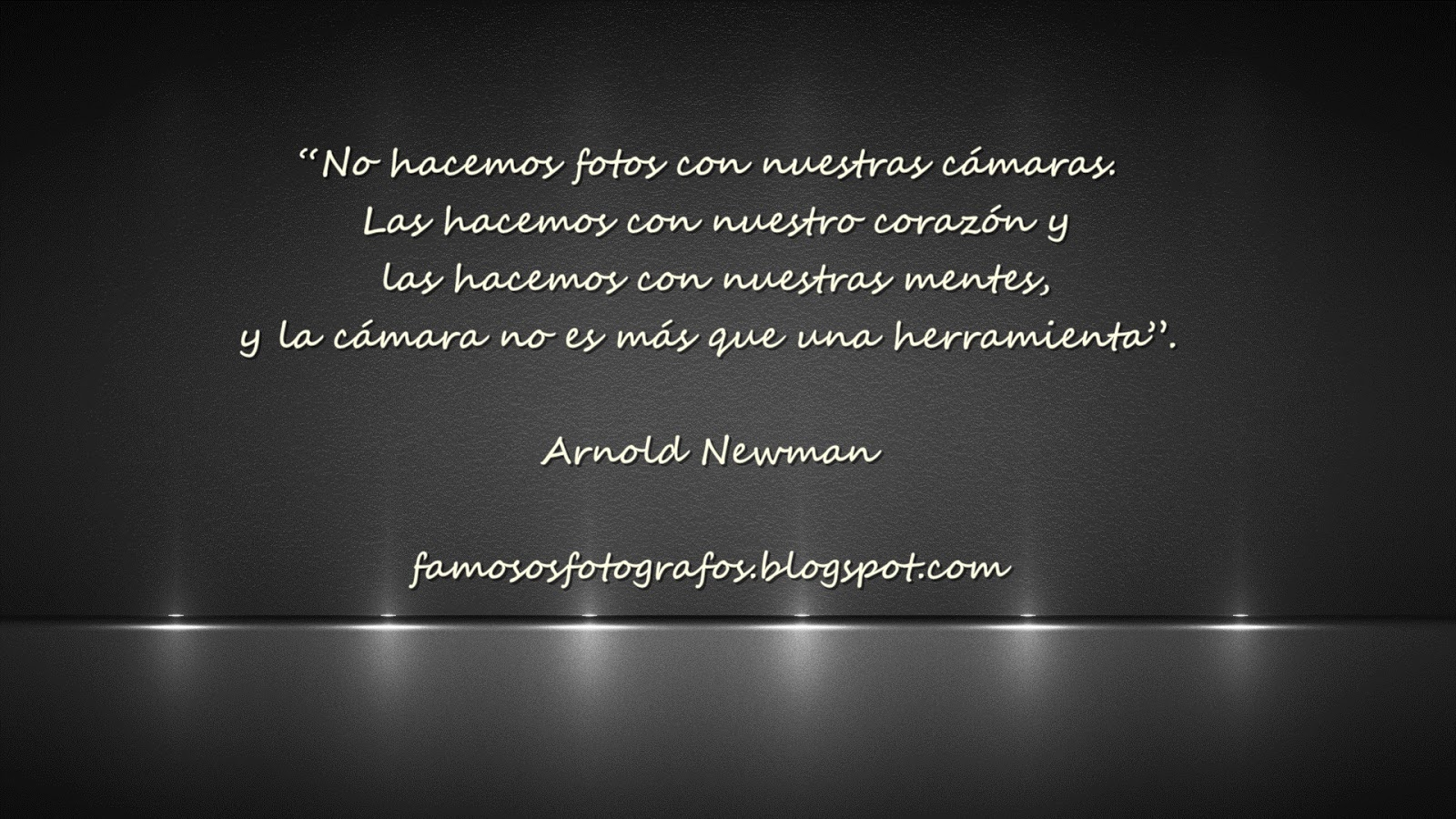 Frases De Fotógrafos Famosos Arnold Newman La