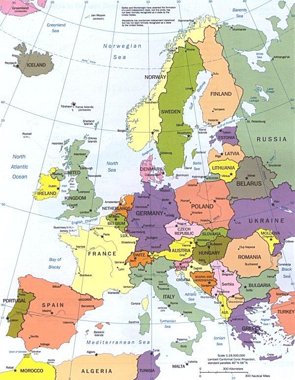 EUROPA - GEOGRAFIA DELL'EUROPA