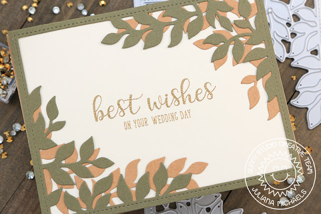 Sunny Studio Stamps: Botanical Backdrop Everyday Greetings Sympathy And Wedding Cards by Juliana Michaels