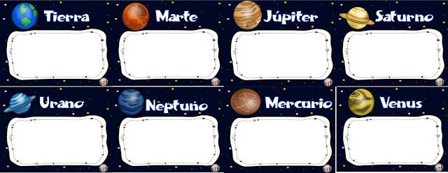 Imagenes de examenes para Imprimir del sistema solar