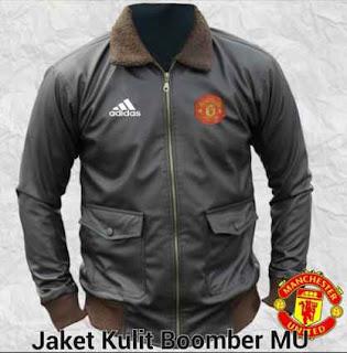 model jaket dari bahan kulit untuk club bola manchester united