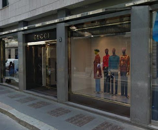 The Gucci store in Milan is at the heart of the fashion district
