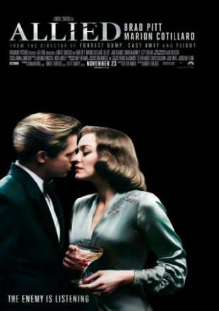 Poster of Allied 2016 Full English Movie Download BRRip 720p