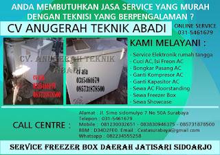 Service Freezer Box Daerah Jatisari Sidoarjo