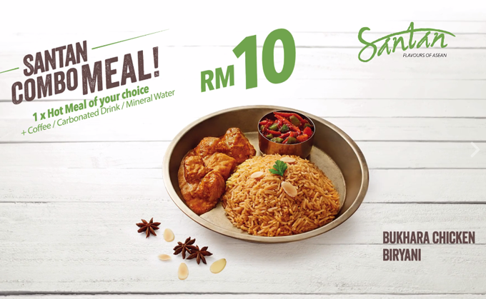 Airasia santan combo meal introduced to you when you fly for Airasia japanese cuisine