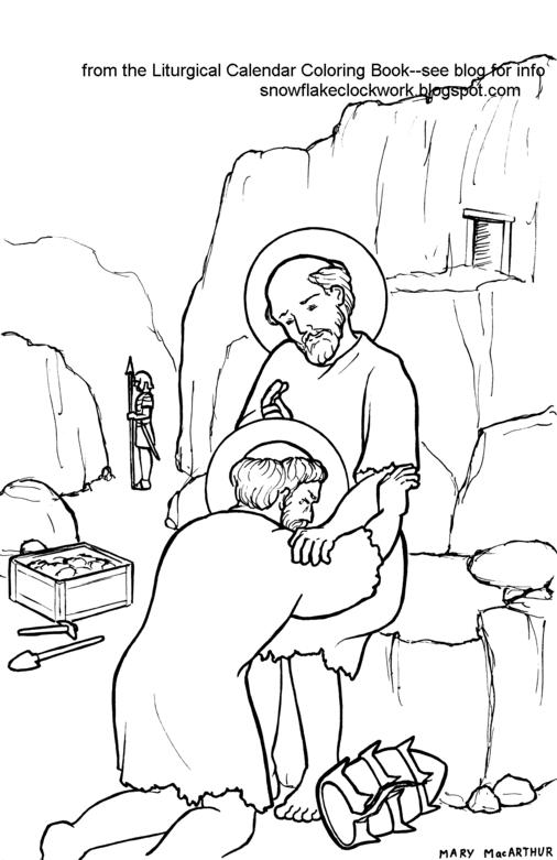 saint maxamillion kolbe coloring pages | Snowflake Clockwork: August 2013