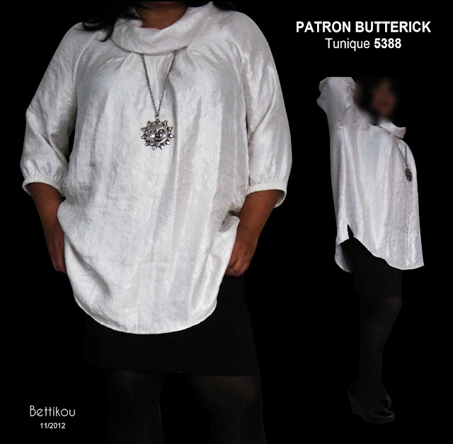 butterick 5388 tunique patron couture sewing pattern top
