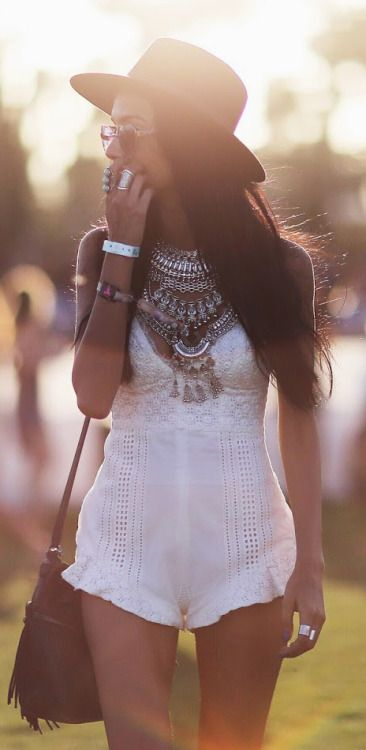 Boho Look,White Boho Romper  Very Beautiful And Stylish