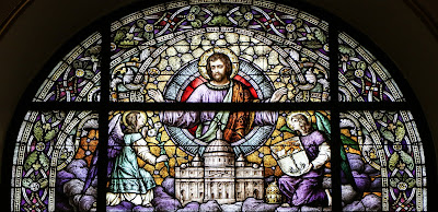 Imagem de São José padroeiro da Igreja, vitral, #1
