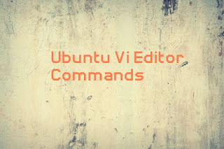 Ubuntu vi editor commands