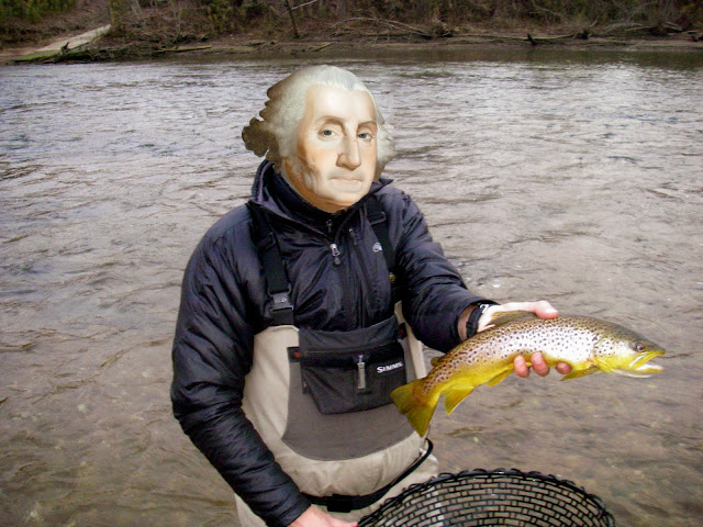 george washington fly fishing brown trout troutrageous.com