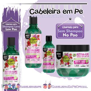 Maria Natureza Festival das Flores - Salon Line (Shampoo Low Poo) --- (Condicionador, Leave in e Máscara No Poo)