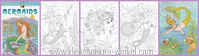 kleurboeken voor volwassenen, kleurboek mermaids