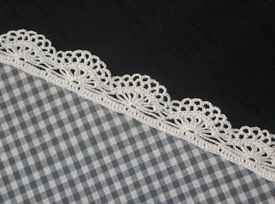 Crochet edging (pattern 1) - Bordura all'uncinetto (schema 1)