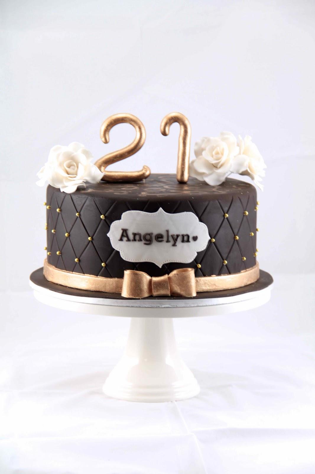 Black White And Gold Birthday Cake
