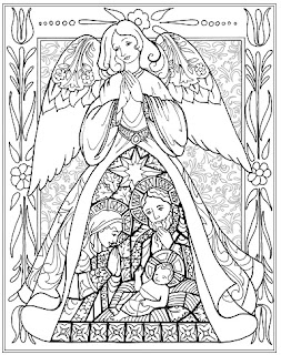 jim shore angel coloring book  christmas sample