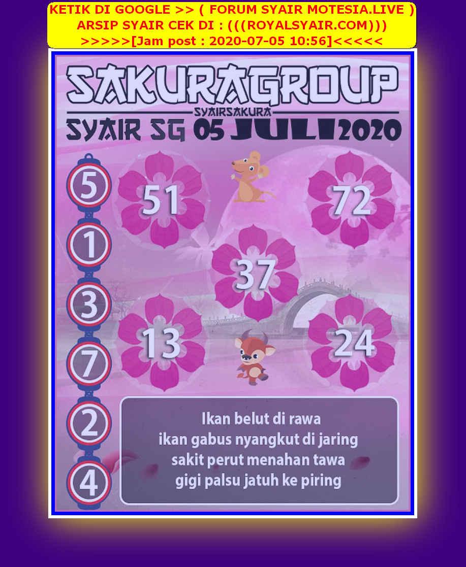 Kode syair Singapore Minggu 5 Juli 2020 77