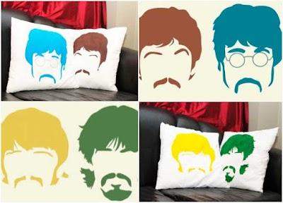 Diy Cojines de Stencil Estarcido de los Beatles