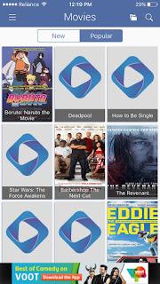 cinema box app home screen