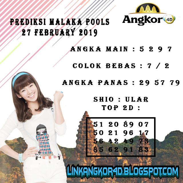PREDIKSI MALAKA POOLS 27 FEBRUARY 2019