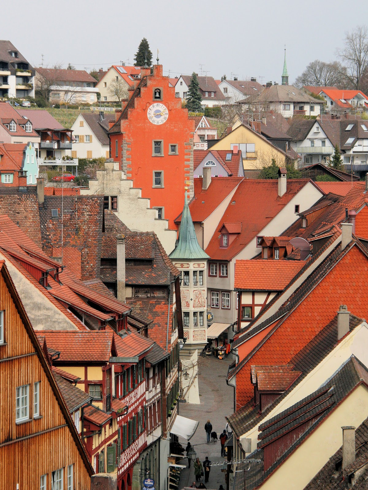 Meersburg is split into the 'Unterstadt' or lower town and the 'Oberstadt' or upper town. Photo: WikiMedia.org.