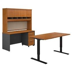 ergonomic workstation with sit to stand desk