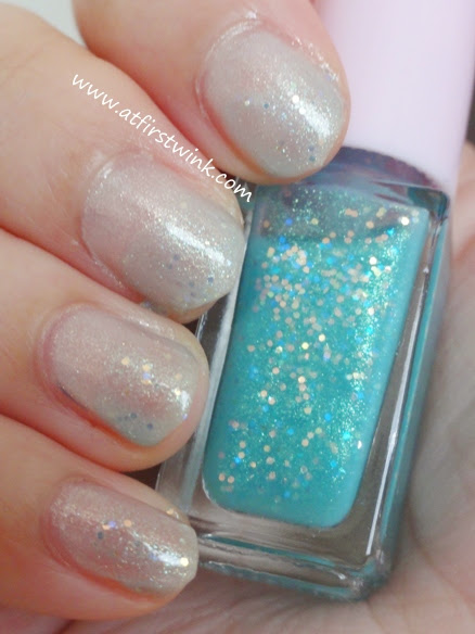 Juicy Cocktail gradation nails set #4 Mint Frappe step 2