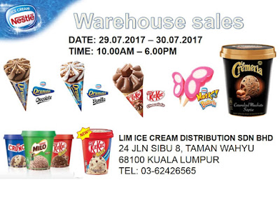 Nestle Ice Cream Warehouse Sale Discount Offer