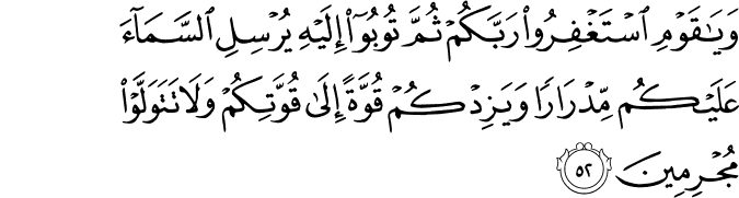 Surat Hud Ayat 52