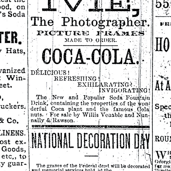 Coca-Cola newspaper ad