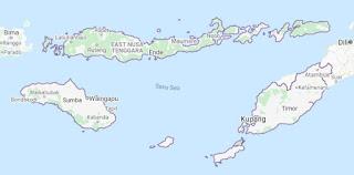 Peta provinsi Nusa Tenggara Timur