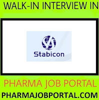 Stabicon Life Sciences Walk In for Freshers & Experienced - Quality Assurance, Quality Control, AR&D, FR&D, Micro at 29 & 30 Sep