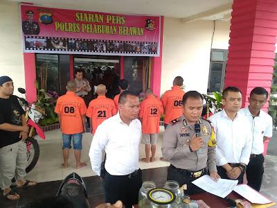 Tiga kasus kriminal resahkan warga dipaparkan Wakapolres Pel.Belawan