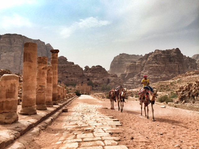 Petra Jordan lost city roman columns