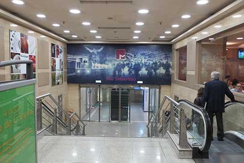 Entrance to São Sebastião metro station.
