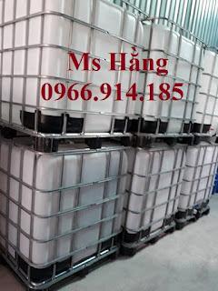 Thùng nhựa 1000 lít đựng dầu dừa,tank ibc 1000 lít cũ