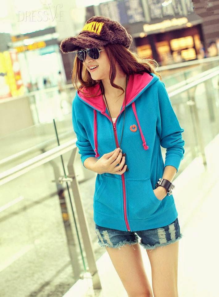 Korean Blazers & Hoodies For Teen Girls By DressVe From