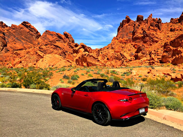 miata, mazda, valley of fire, red rocks, hiking