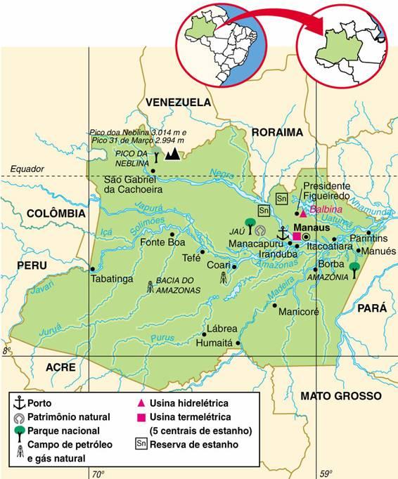Amazonas | Aspectos Geográficos e Socioeconômicos do Estado do Amazonas