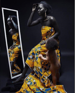 AFRICAN REAL BLACK SKIN [Meet The South Sudanese Model Nicknamed 'queen Of Dark'] 8