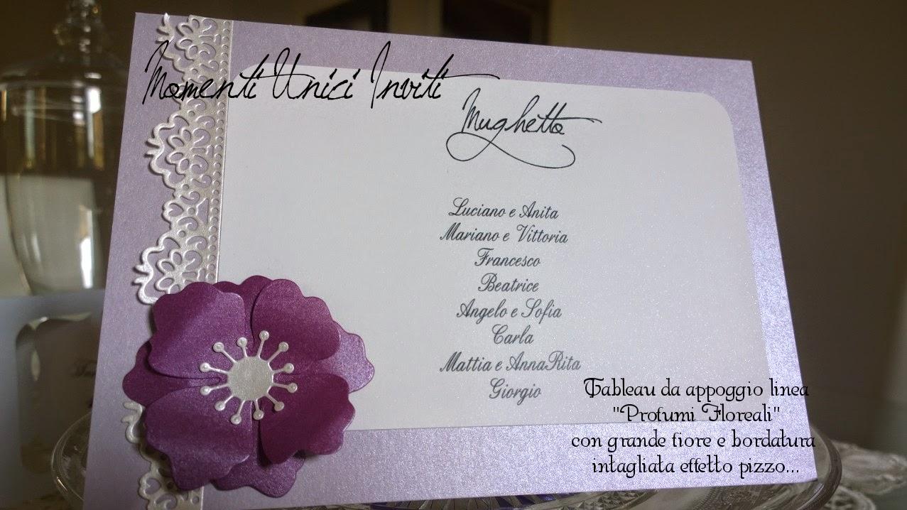 segnatavolo Il tableau da appoggio di Viviana e Luca - Collezione Profumi FlorealiCards Tableau Colore Lilla Colore Viola