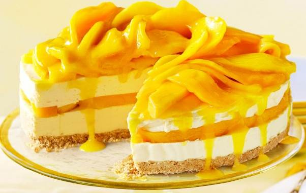 Resepi Chilled Mango Cheese Cake/ Kek Keju Mangga