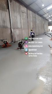 Jasa trowel lantai beton finish floor hardener trowel cor gudang pabrik showroom lapangan roof dack trowel beton spesialis Jasa floor hardener lantai Borongan cor Gudang spesialis plat lantai gudang jasa trowel
