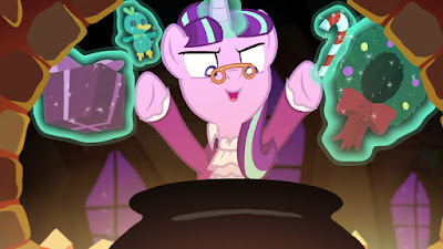 "Starlight Glimmer singing in ""A Hearth's Warming Tail"""