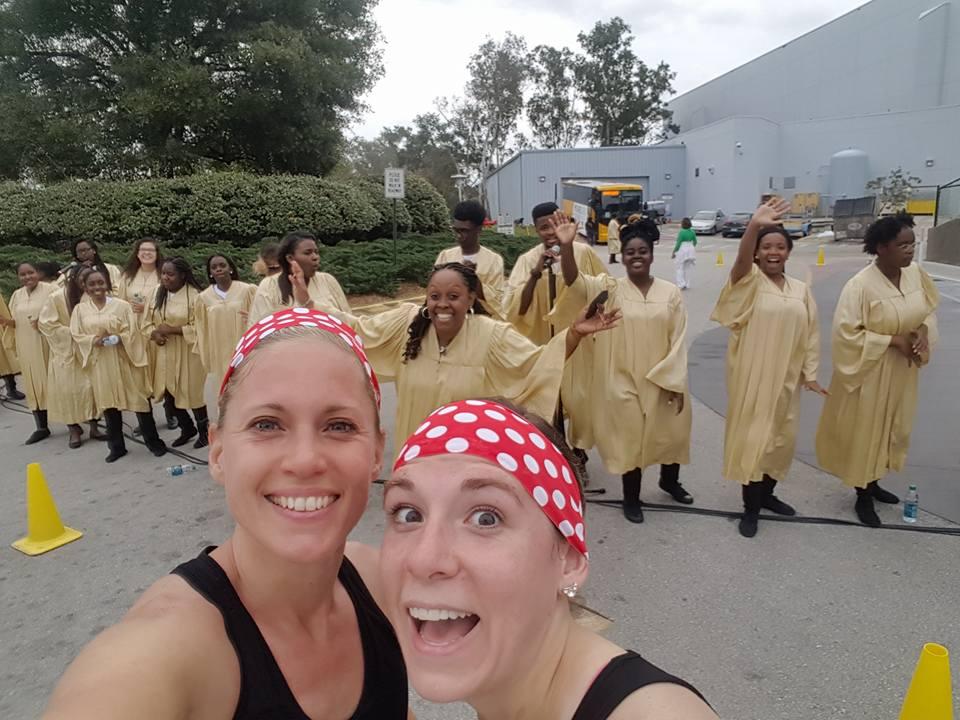 Dopey Challenge Mickey Marathon 2016 Disney's Choir with a photo bomb