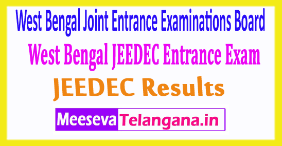 West Bengal Joint Entrance Examinations Board WBJEEDEC Results 2017